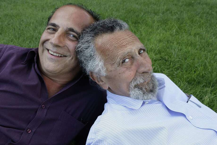 "In this June 19, 2008 photo, brothers Ray, left, and Tom Magliozzi, co-hosts of National Public Radio's ""Car Talk"" show, pose for a photo in Cambridge, Mass. NPR says Tom Magliozzi died Monday, Nov. 3, 2014 of complications from Alzheimer's disease. He was 77. (AP Photo/Charles Krupa) Photo: AP / AP"