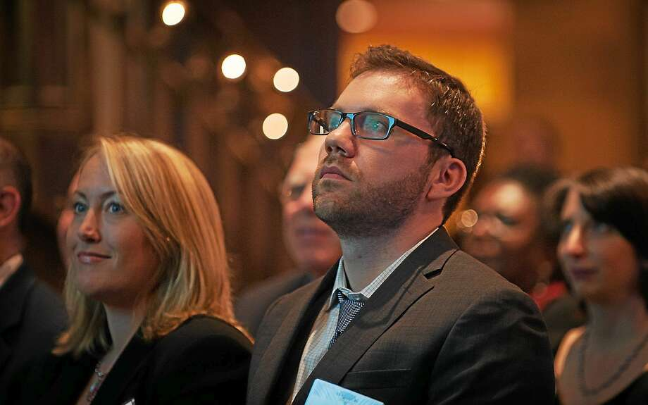 Evan Dobos during the reSET 2014 Social Enterprise Awards in on Oct. 28, in Hartford. Photo: Contributed Photo