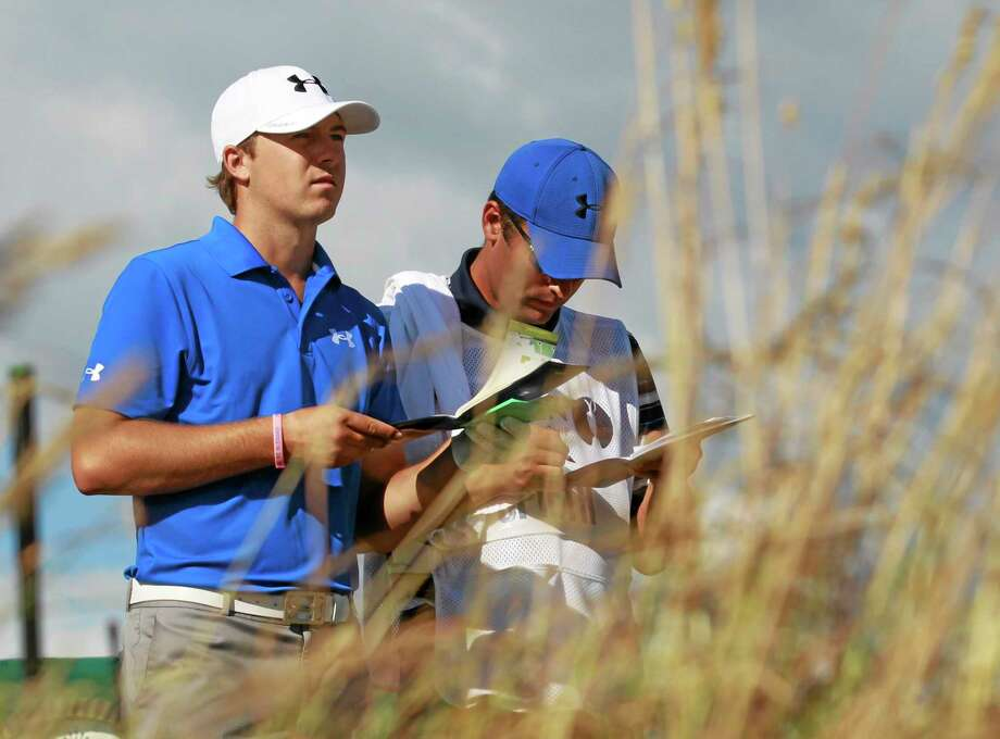 In this July 18, 2013 file photo, Jordan Spieth prepares to tee off on the 18th hole during the first round of the British Open at Muirfield, Scotland. Photo: Peter Morrison — The Associated Press File Photo  / AP