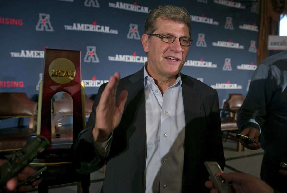 UConn coach Geno Auriemma and the Huskies will open their exhibition slate against Division II West Chester, Auriemma's alma mater. Photo: Richard Drew — The Associated Press  / AP