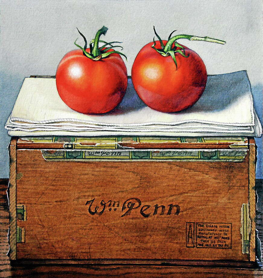 """Submitted photo courtesy of Jeremiah Patterson """"Twin Tomatoes"""" by Jeremiah Patterson, a watercolor on paper, will be part of an exhibit at Five Points Gallery in Torrington. Photo: Journal Register Co."""