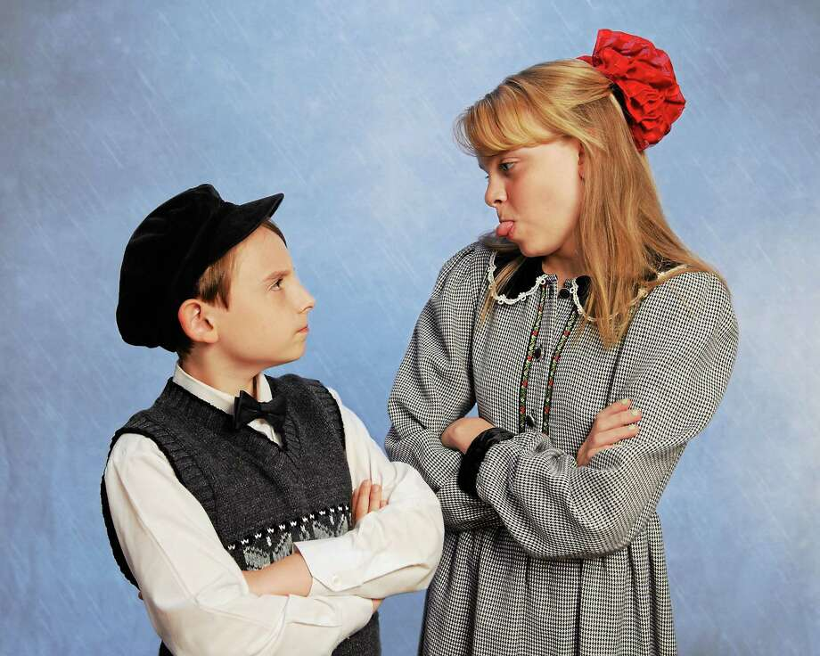 Submitted photo - Landmark Community Theatre Kathleen Green and Ben Stone-Zelman team up to play Jane and Michael Banks in Mary Poppins. Photo: Journal Register Co.