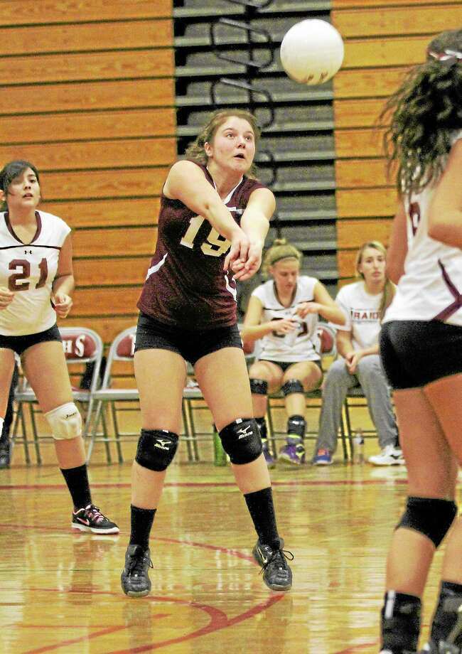 Torrington's Shelby Consolini was the Red Raiders lone representative on the All-NVL team this season. Kiley Rosengrant and Carly Ruzbasan were chosen for the All-Copper team. Photo: Marianne Killackey — Special To The Register Citizen  / 2013