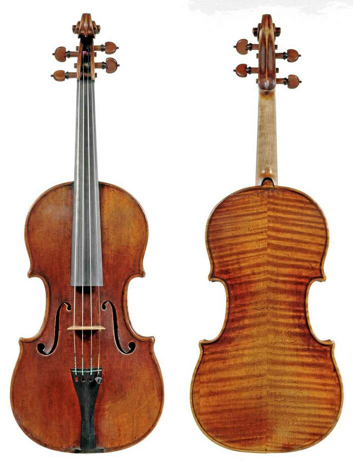 In this undated photo provided by the Milwaukee Symphony Orchestra is the 300-year-old Stradivarius violin that was stolen from MSO concertmaster Frank Almond. Police said Wednesday, Feb. 5, 2014 three people have been arrested in connection with the theft of the multi-million-dollar instrument that was on loan to Almond. Authorities say a robber used a stun gun on Almond and took the instrument from him in a parking lot. (AP Photo/Milwaukee Symphony Orchestra) Photo: AP / Milwaukee Symphony Orchestra