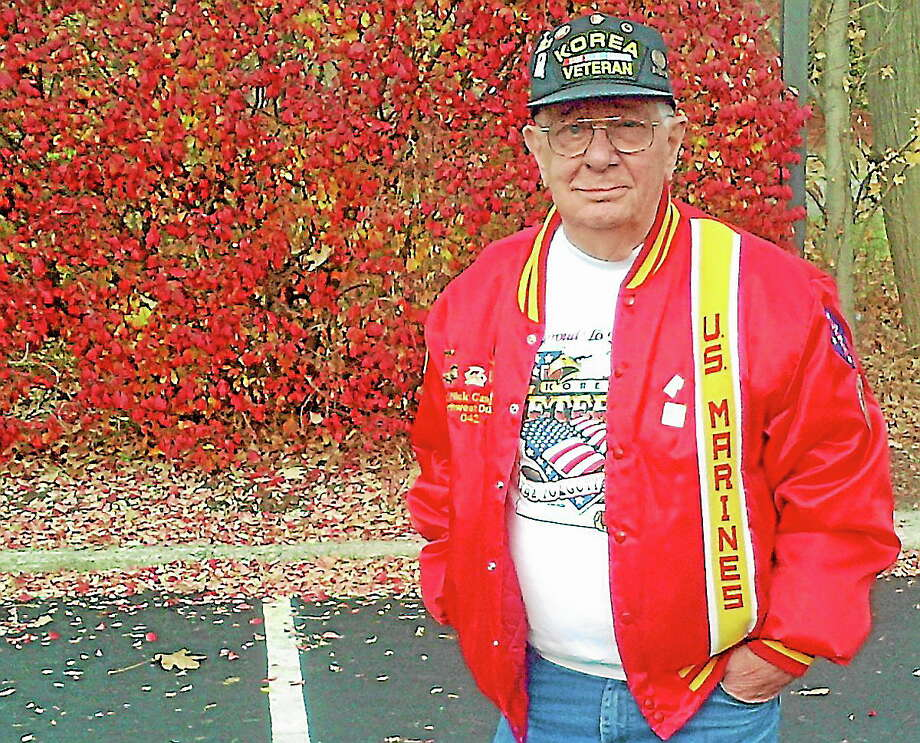 Korean War veteran and former U.S. Marine Sgt. Nicholas Gandolfo Photo: Gayla Cawley—For The Register Citizen