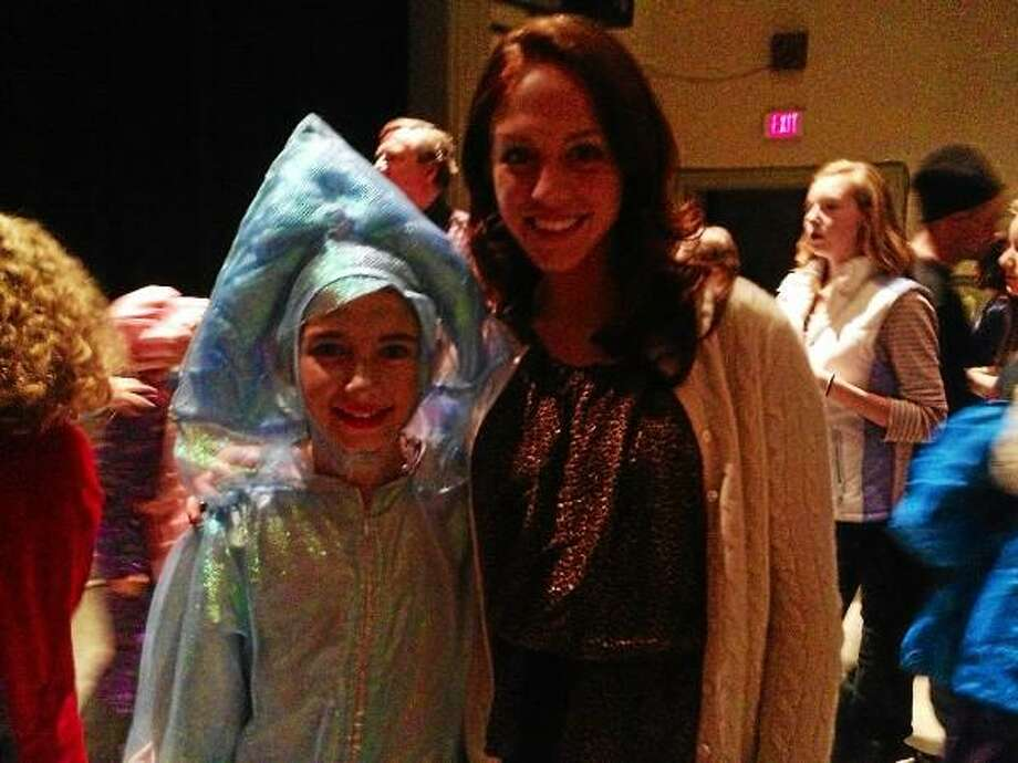 Contributed photo - Miss Connecticut, Kaitlyn Tarpey, poses with one of her cousins at a play in 2012.