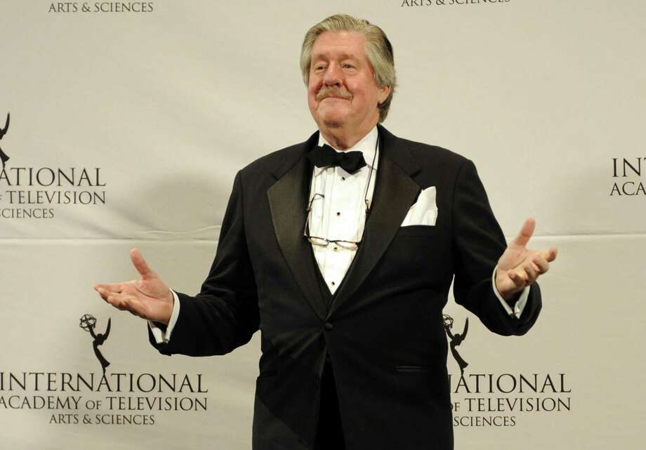 """FILE -- This Nov. 21, 2011 file photo shows, Edward Herrmann after presenting an award at the 39th International Emmy Awards, in New York.  The son of Edward Herrmann says the """"Gilmore Girls"""" star and Tony Award-winner has died. Rory Herrmann said that his father died Wednesday, Dec. 31, 2014, in a New York City hospital where he was being treated for brain cancer. Edward He was 71. (AP Photo/Henny Ray Abrams, File) Photo: AP / AP"""