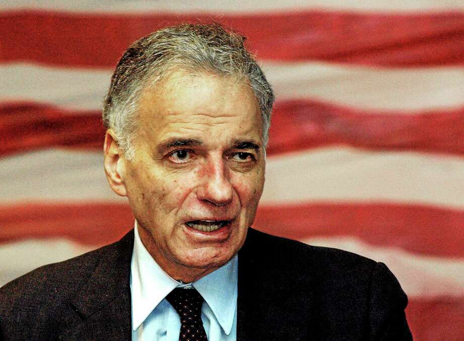 Ralph Nader speaks to supporters as he campaigns for his 2008 independent presidential bid in Waterbury, Conn. Photo: AP Photo/George Ruhe, File  / AP