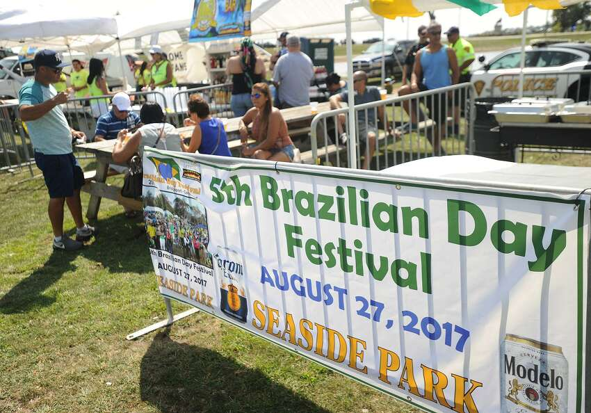 The 5th Brazilian Day Festival at Seaside Park in Bridgeport, Conn. on Sunday, August 27, 2017. The event featured live bands, Zumba, and a variety of traditional fodd and drink.