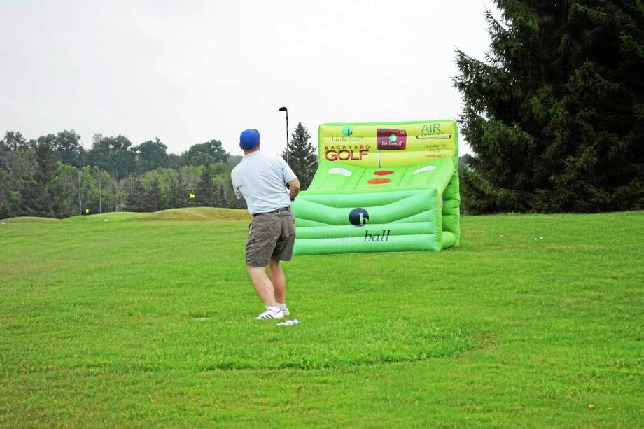 Area golfers participated in the Torrington-Winsted Rotary Club's 26th annual golf classic Monday at the Torrington Country Club. Photo: Jenny Golfin — Register Citizen