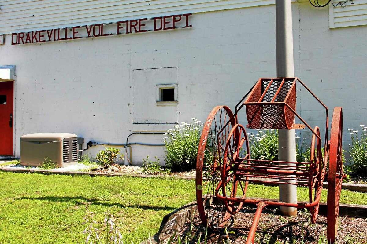 The Drakeville Volunteer Fire Department headquarters on Marshall Lake Road in Torrington. Drakeville is one of three volunteer departments in Torrington.
