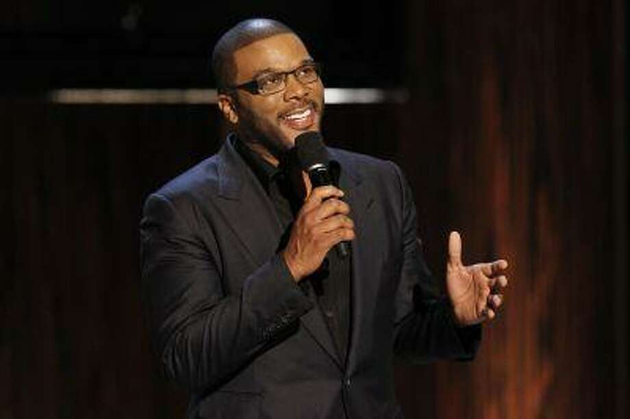 """Actor and director Tyler Perry speaks during the taping of the Spike TV special tribute """"Eddie Murphy: One Night Only"""" at the Saban theatre in Beverly Hills, California November 3, 2012. Photo: REUTERS / X90045"""
