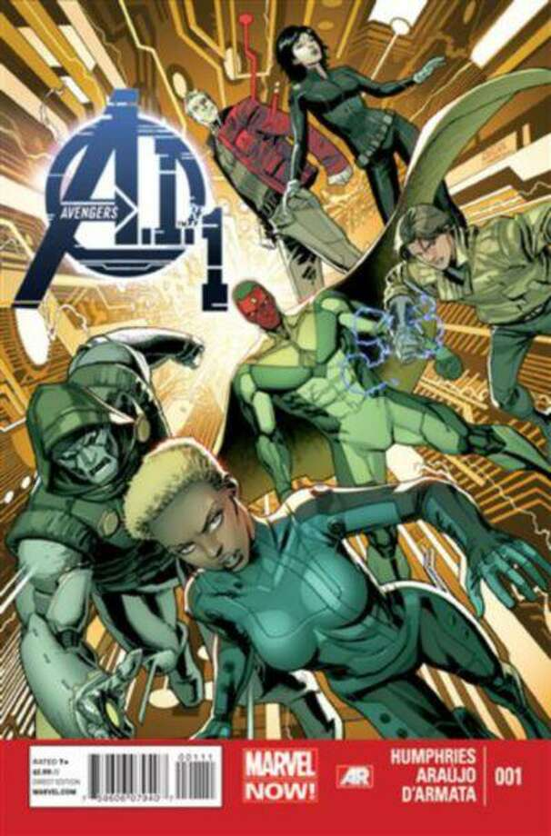 "In this publicity image released by Marvel Comics, the cover of the ""Avengers A.I.,"" comic book is shown. Artificial intelligence is the crux of a new team of Avengers whose roster members are either synthetic, android or robotic. Such is the crux of ""Avengers A.I."" which boasts the return of the Vision to prominence after years secluded on the sidelines in a self-imposed exile. (AP Photo/Marvel Comics) Photo: AP / Marvel Comics"