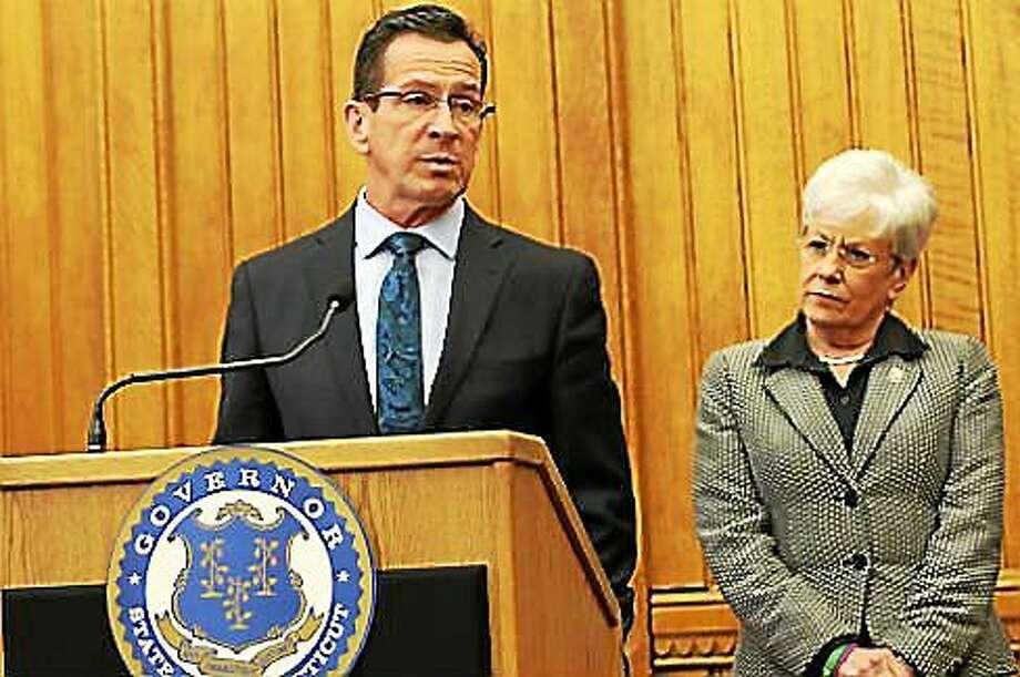 Gov. Dannel P. Malloy and Lt. Gov. Nancy Wyman. Photo: Christine Stuart — CTNewsJunkie