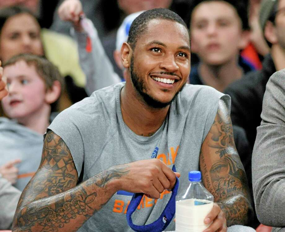 Carmelo Anthony has decided to remain in New York, choosing the Knicks over a number of teams which could have given him a better chance for the championship he craves. Photo: The Associated Press File Photo  / FR51951 AP