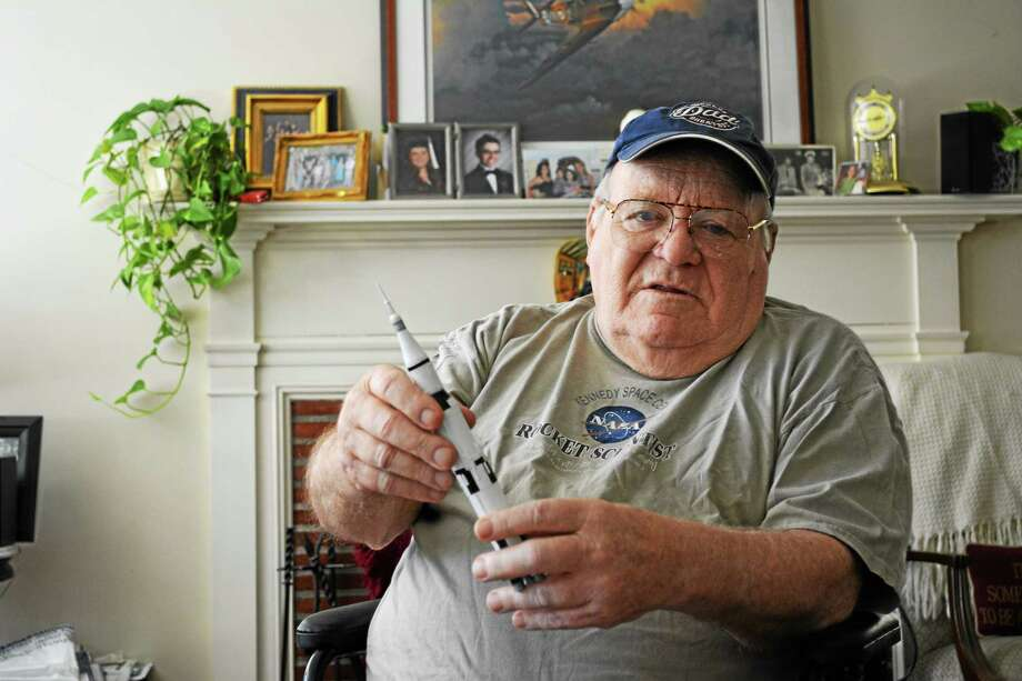 Winsted native William Newman, 82, worked on rocket technology utilized by both the United States Air Force and NASA. Photo: Ryan Flynn — Register Citizen
