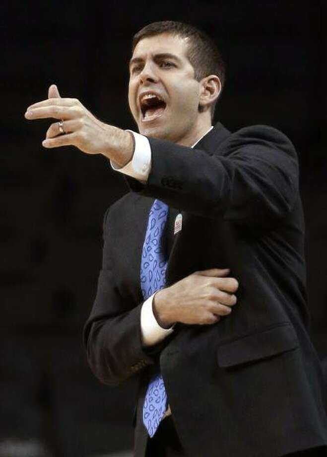 In this March 14, 2013, file photo, Butler coach Brad Stevens talks to players during an NCAA college basketball game against Dayton at the Atlantic 10 Conference tournament in New York. Photo: AP / AP