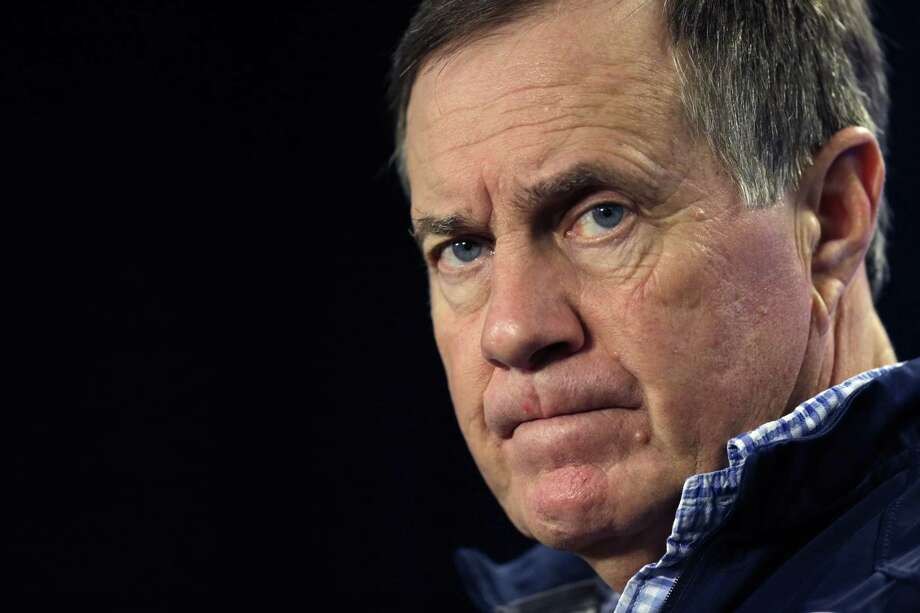 Patriots head coach Bill Belichick is not giving any hints on how much his starters will play today against the Bills. Photo: The Associated Press File Photo  / AP