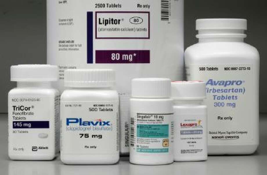 Bottles of prescription drugs are displayed at Medco Health Solutions Inc., in Willingboro, N.J.