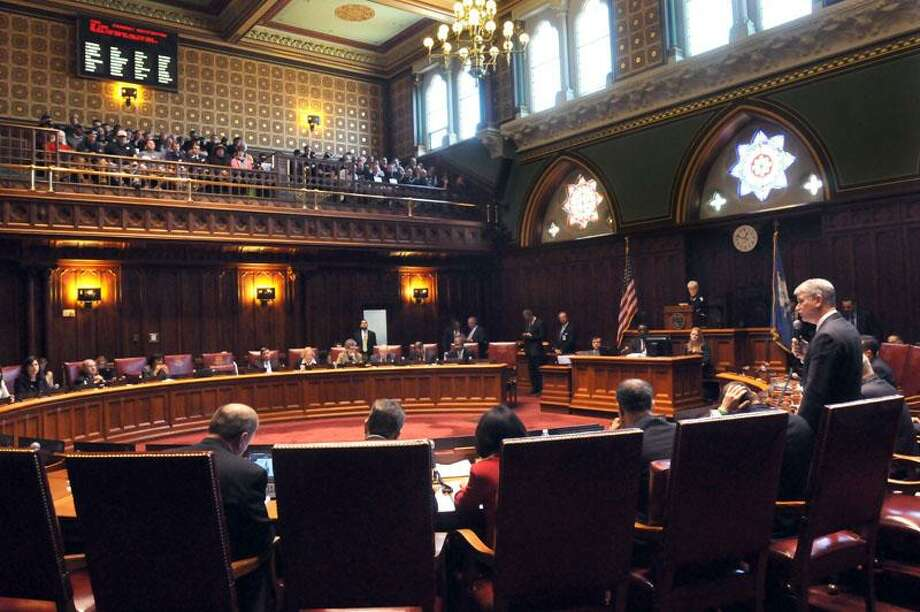 State Capitol, Hartford: the CT State Senate debated a sweeping gun control bill. Mara Lavitt/New Haven Register4/3/13