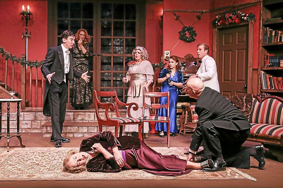 """Photos courtesy of TheatreWorks A scene from the comedy mystery """"The Game's Afoot"""" at TheatreWorks New Milford, which has been extended into January. Photo: Journal Register Co."""
