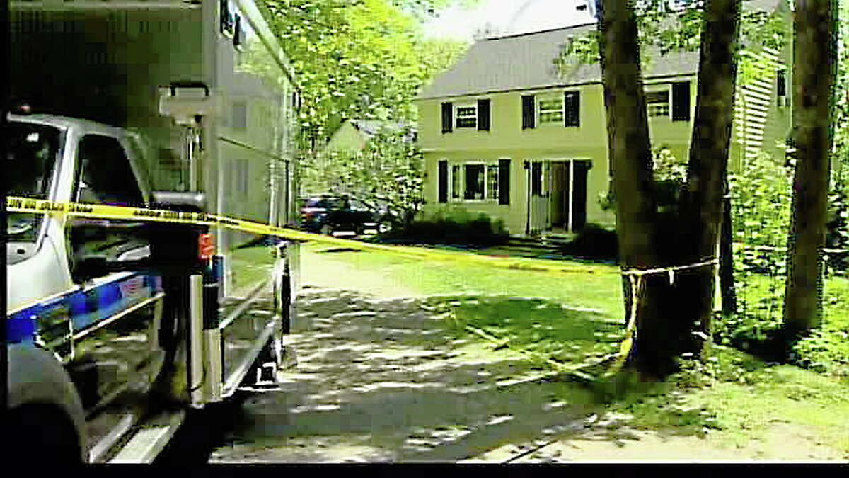 The house in Sharon where Luke Vitalis, 23, was killed during a home invasion in 2012.