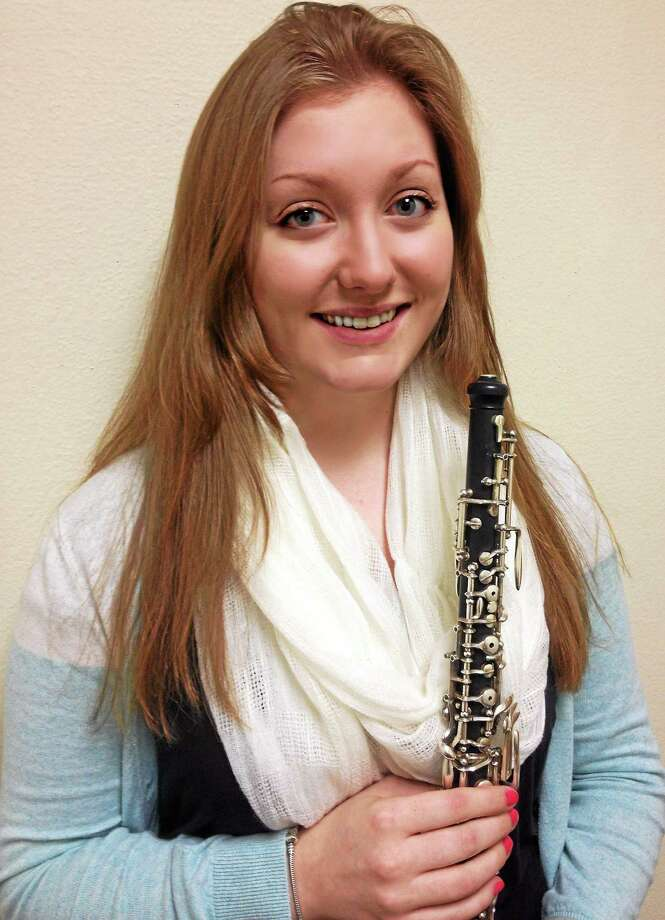 Amanda Kitik with her oboe. Courtesy photo. Photo: Journal Register Co.