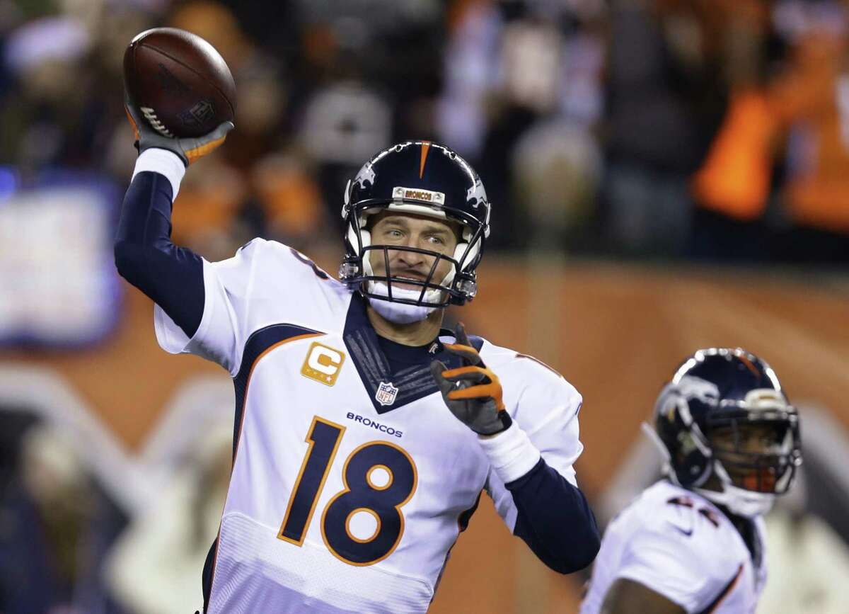 Broncos quarterback Peyton Manning throws during the first half of a recent game.