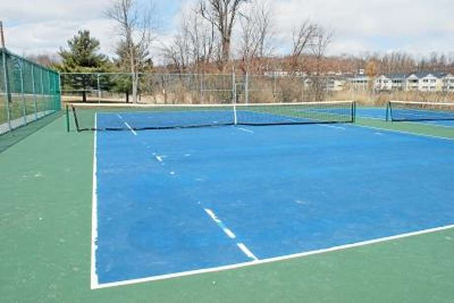 Contributed photo -- The tennis courts at LHS degraded significantly over the winter months.