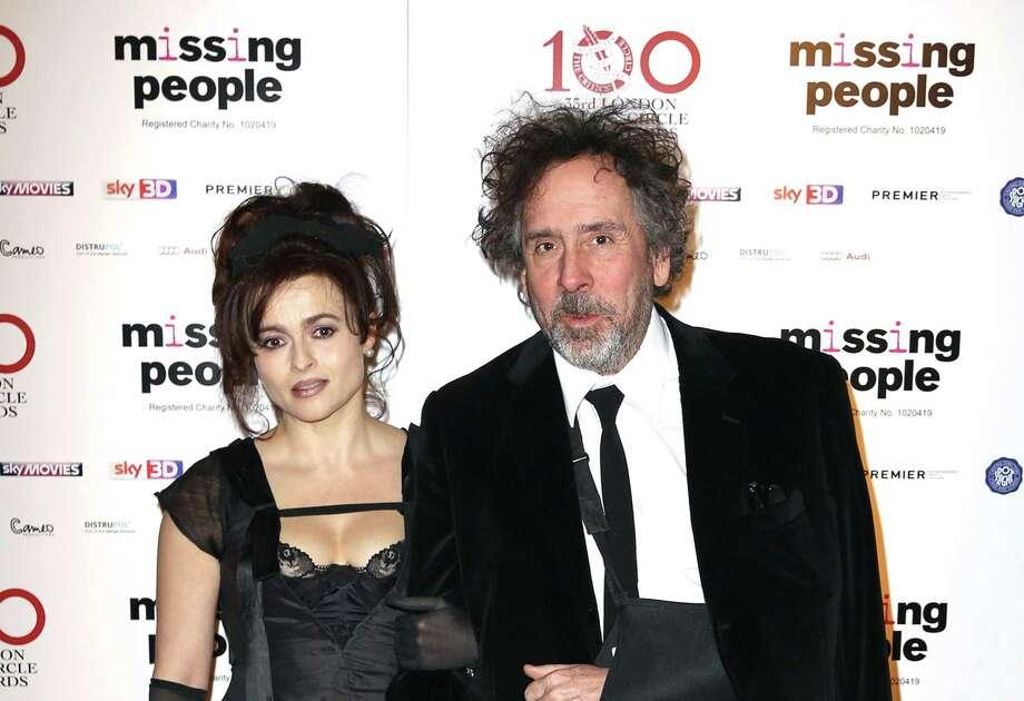 This Jan. 20, 2013 file photo shows Helena Bonham Carter and Tim Burton at the 33rd London Critics Circle Film Awards at the May Fair Hotel in London. Photo: Associated Press  / Invision