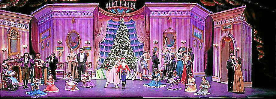 """Submitted photo - NutmegDancers and cast members of the Nutmeg's """"Nutcracker"""" take the stage during the 2012 performances. Photo: Journal Register Co."""