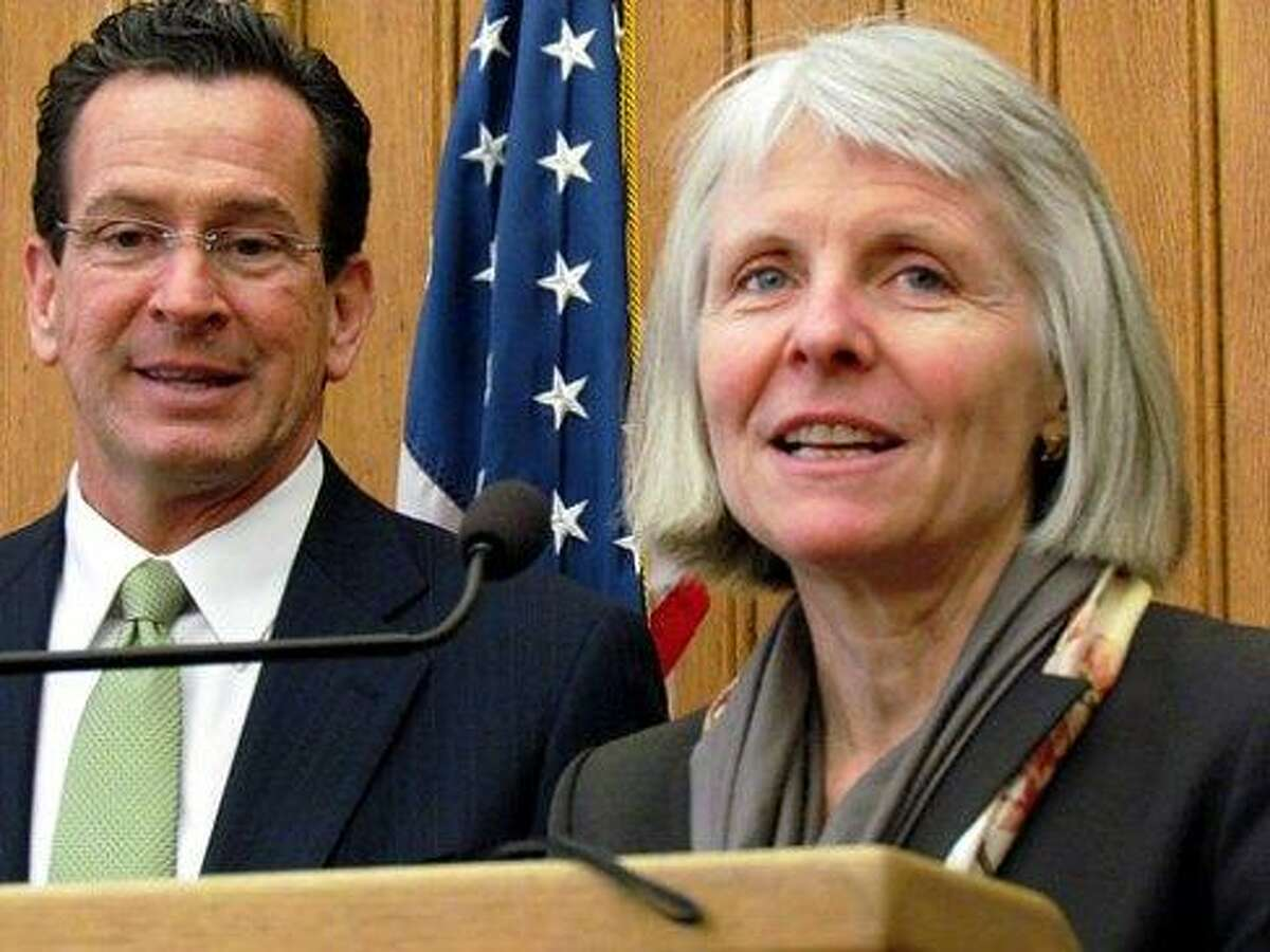 DECD Commissioner Catherine Smith and Gov. Dannel P. Malloy. CT NewsJunkie file photo