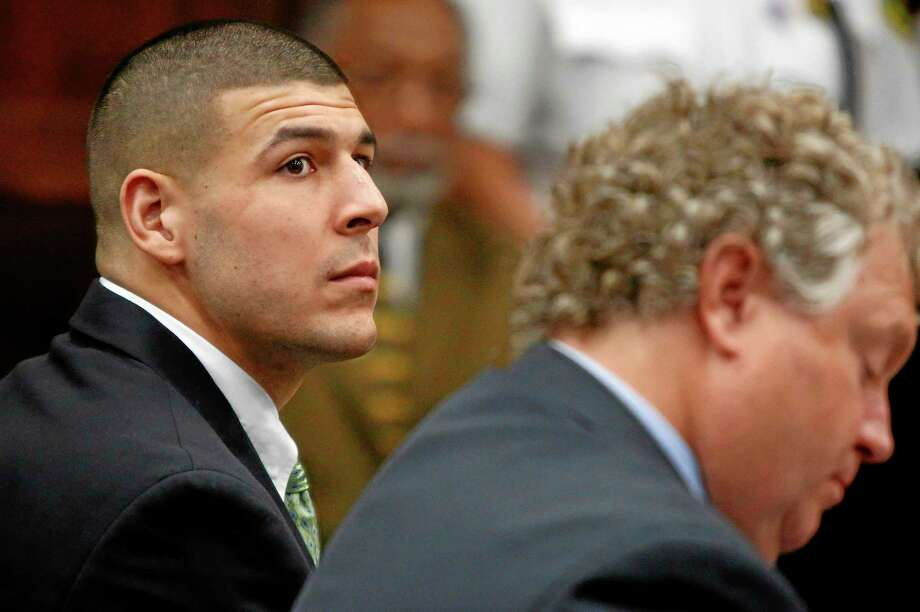 A judge ruled former New England Patriots tight end Aaron Hernandez may transfer to a jail in another county for easier access to his Boston lawyers. Photo: Dominick Reuter — The Associated Press File Photo  / Pool Reuters