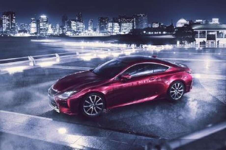 The Lexus RC Coupe. The car sits on a choice of 19-inch or 18-inch precision-machined aluminum wheels finished with black and platinum caps.