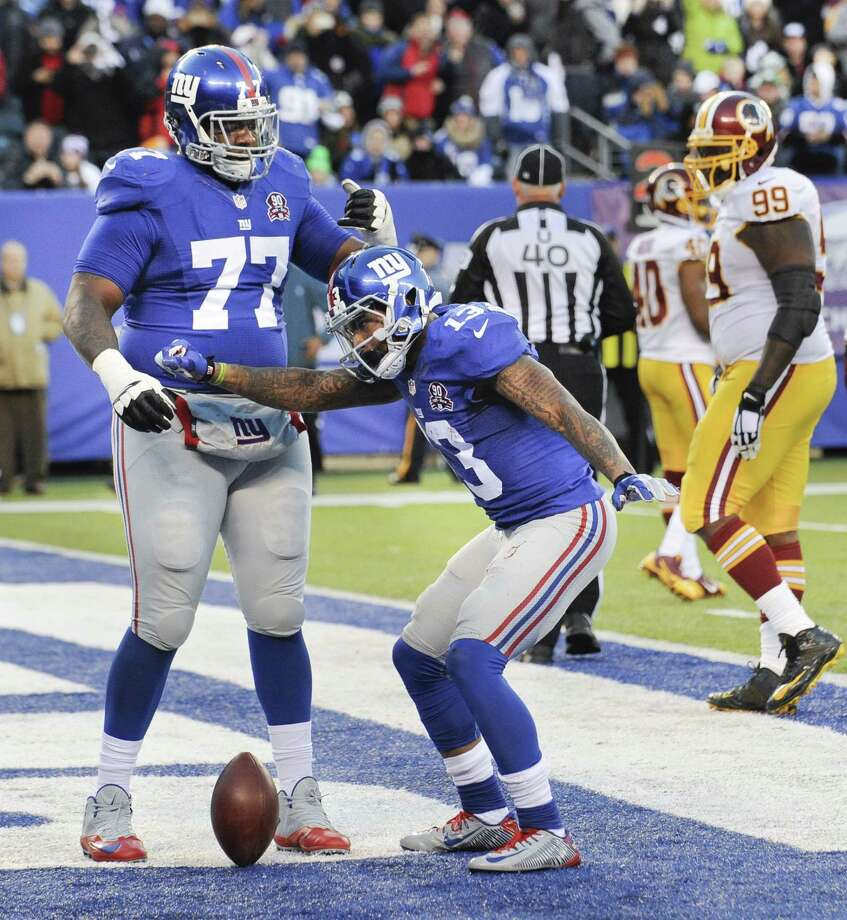 Giants wide receiver Odell Beckham Jr. will face a stiff test Sunday against the St. Louis Rams defense. Photo: The Associated Press File Photo  / FR51951 AP