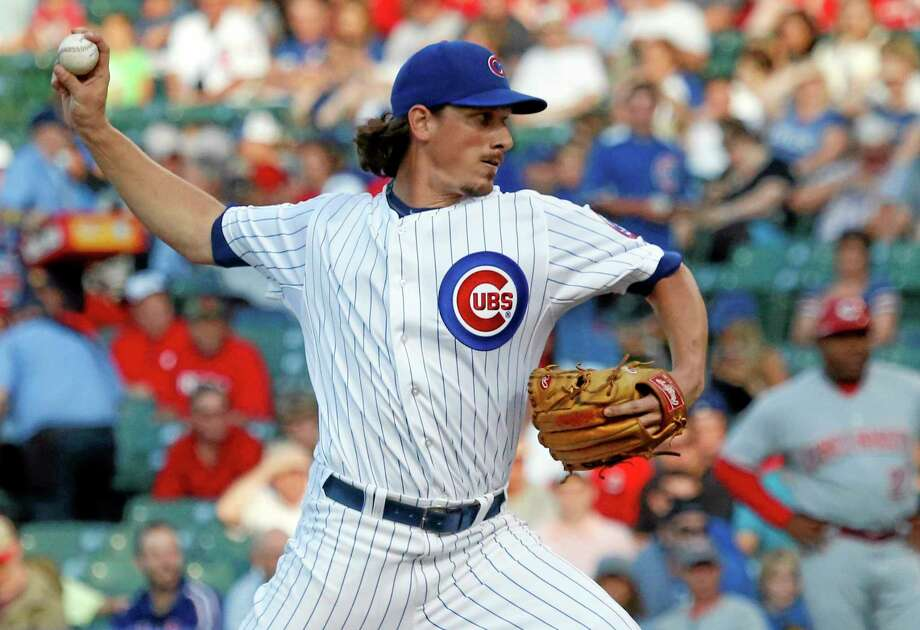 The Chicago Cubs traded starting pitcher Jeff Samardzija to the Oakland Athletics along with starter Jason Hammel for three top-line minor league prospects. Photo: Charles Rex Arbogast — The Associated Press  / AP