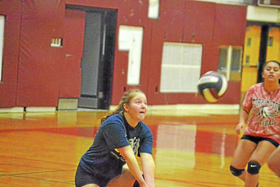 Shelby Consolini will be back as the libero for the Raiders who went 14-4 last season finishing fourth in the NVL. Photo: Pete Paguaga—Register Citizen