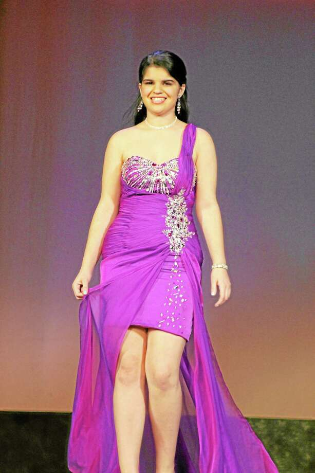 Mickayla Vitali during the evening gown portion of the 2012 Miss Litchfield County Pageant. Photo: Contributed Photo