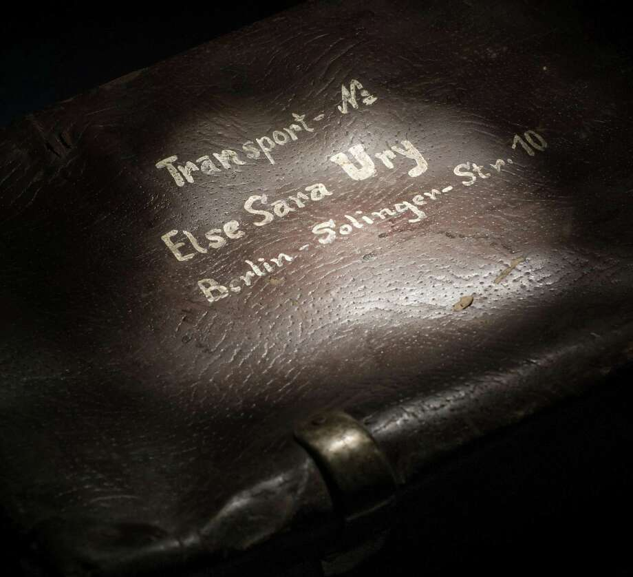 This undated photo provided by the Auschwitz-Birkenau State Museum shows a Holocaust-era suitcase from Else Sara Ury, a German-language Jewish author of children's books popular in Germany in the 1920s and '30s, kept in the recently-opened, state-of-the-art protective storage at the Auschwitz Museum in Oswiecim, Poland. Ury died in an Auschwitz gas chamber in 1943. The Auschwitz museum says some of the victims' 3,800 suitcases have been put into a state-of-the-art protective storage room partly funded by the European Union. (AP Photo/Auschwitz-Birkenau State Museum)  POLAND OUT Photo: AP / AP