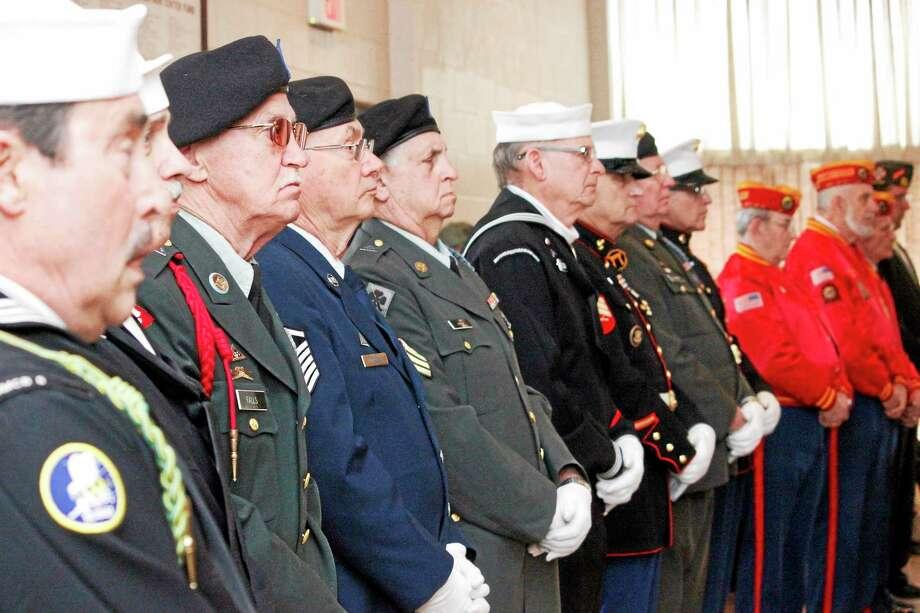 "Veterans attended a ""Welcome Home"" ceremony at Torrington's Coe park Civic Center Sunday to honor Vietnam veterans. Photo: Shako Liu — Register Citizen"
