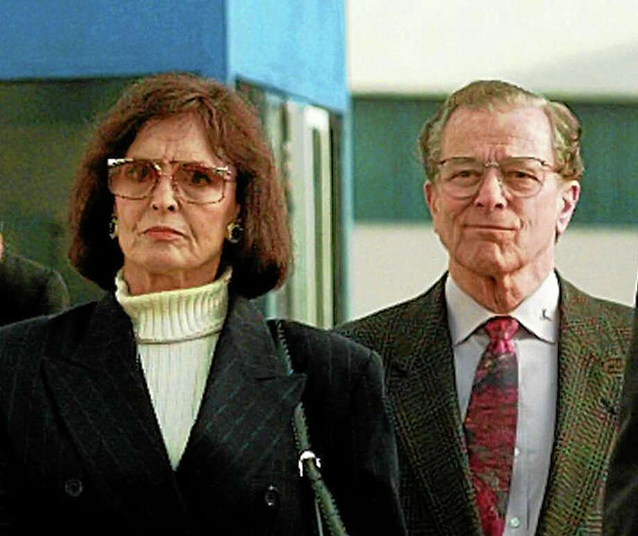 FILE - In a Jan. 21, 1997 file photo, Juditha and Louis H. Brown Jr., parents of Nicole Brown Simpson, arrive for the start of closing arguments in the O. J. Simpson wrongful death civil suit at Los Angeles County Superior Court in Santa Monica, Calif. Louis H. Brown Jr. died Thursday, July 3, 2014 at his Southern California home, said family attorney Natasha Roit. He was 90. (AP Photo/Kevork Djansezian, File) Photo: AP / AP