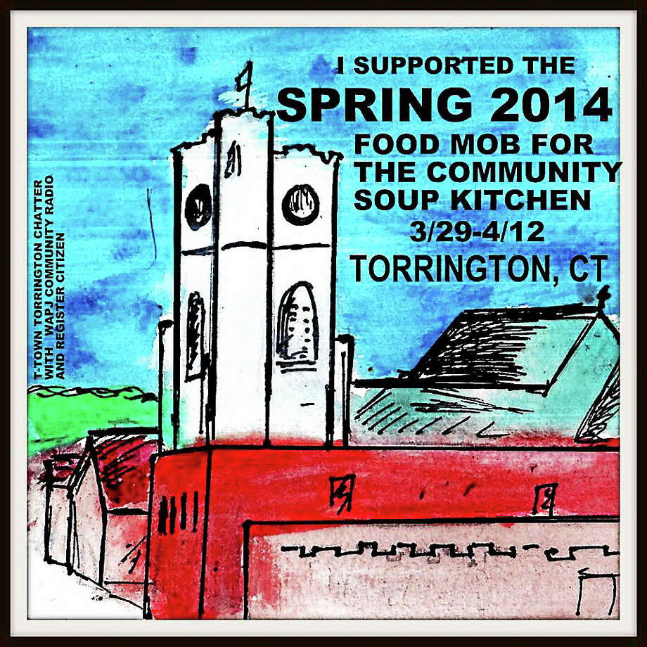 "A ""food mob"" card designed by event organizer J. Timothy Quirk. Photo: Contributed Photo"