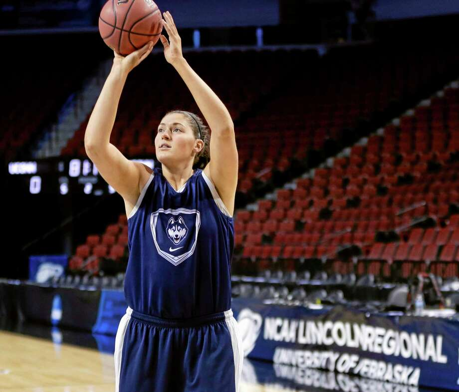 UConn's Stefanie Dolson shoots during practice in Lincoln, Neb., for Saturday's game against BYU. Photo: Nati Harnik — The Associated Press  / AP