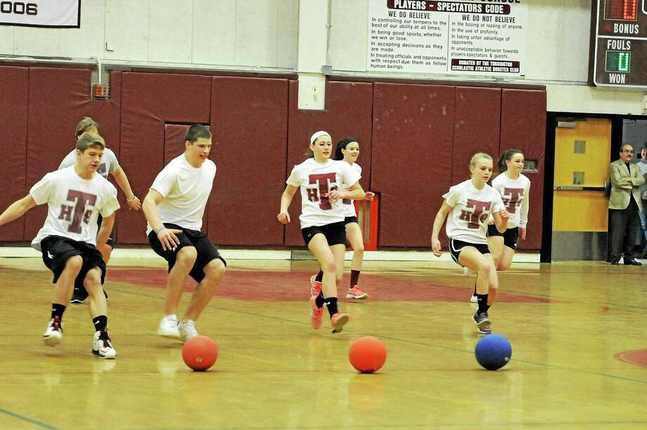 Torrington High School 2014 dodgeball tournament Photo: Journal Register Co.
