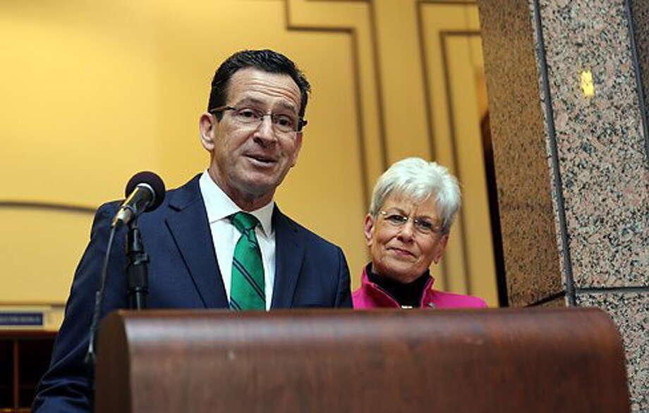 Gov. Dannel P. Malloy and Lt. Gov. Nancy Wyman announced they will both seek a second term in office. Photo: Christine Stuart — CTNewsJunkie.com