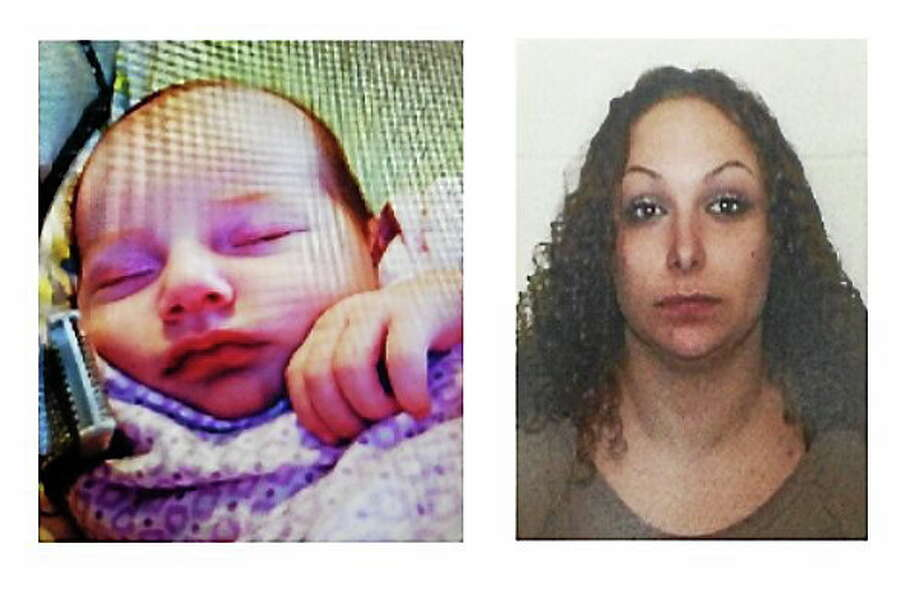 Torrington police issued an Amber Alert June 30 for one-month-old Shiloh Gilbert-Alfar. They were also looking for her mother, Amirah Alfar. The alert was cancelled that afternoon after the two were found safe in Arizona. Contributed photos - Torrington police Photo: Journal Register Co.