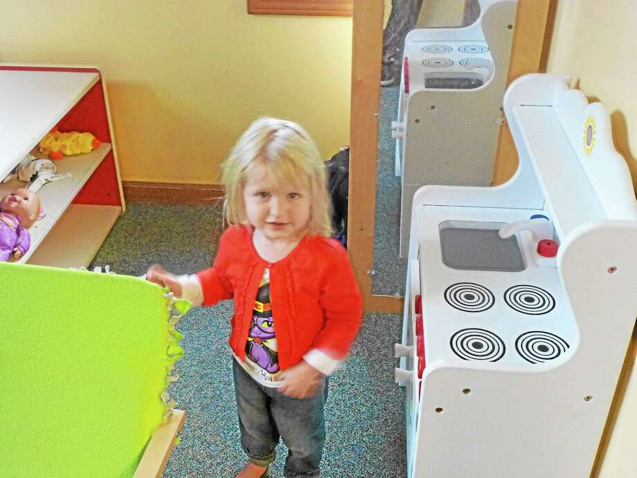 Daycare goers like Sunny Fedorovich, 2, can get a healthy start at Room to Grow. Photo: Ryan Flynn - Register Citizen