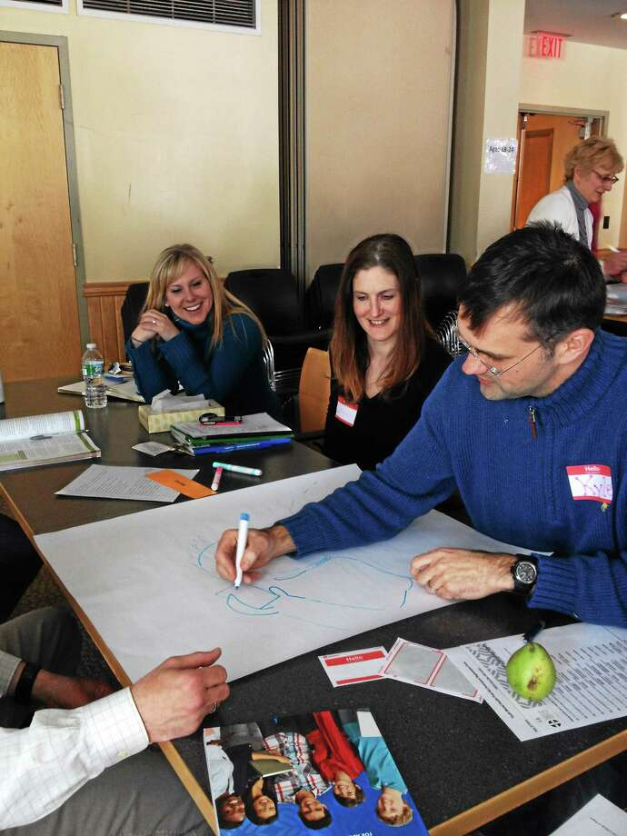 A example of a youth mental health first aid training exercise. Photo: Contributed Photo