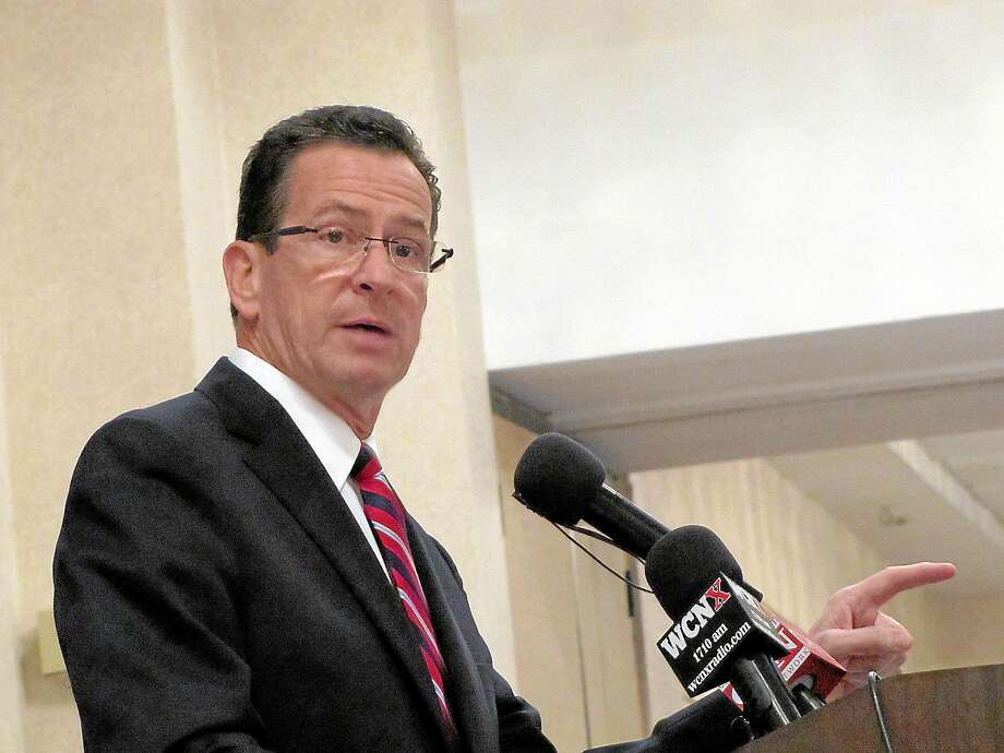 Gov. Dannel Malloy speaks at the Middlesex Chamber of Commerce breakfast in Cromwell on Tuesday. Photo: File Photo