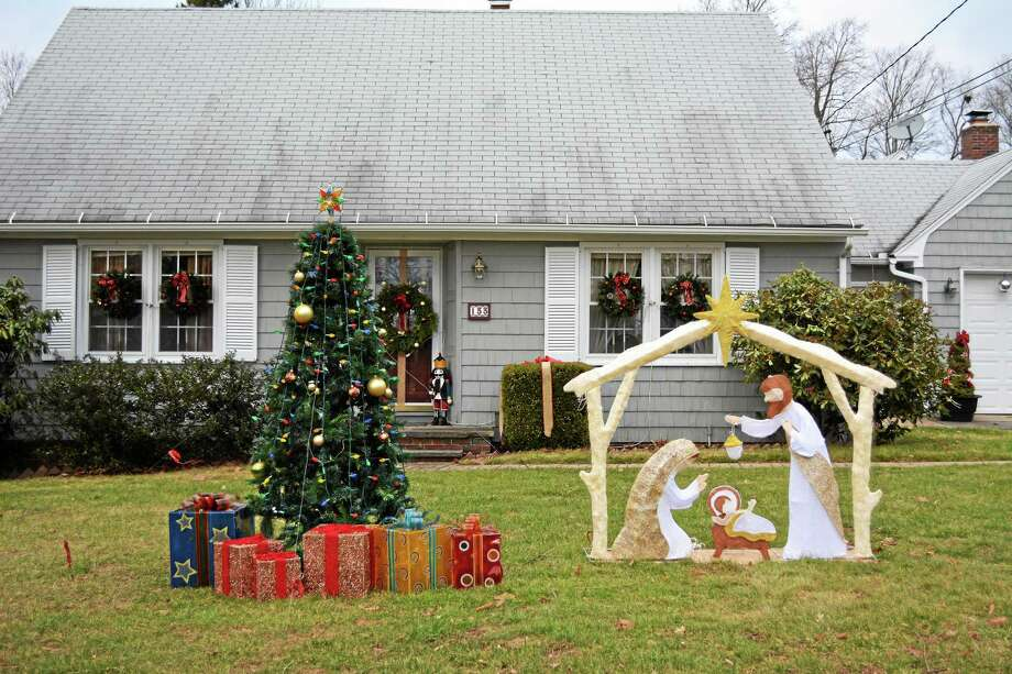 Photo by Kaitlin McCallum 133 Torrington Heights Road, the first-place winner in the nativity category of the city's decorating contest. Photo: Journal Register Co.